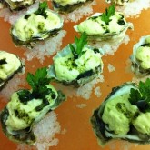 Oysters with Artemesia Gelee