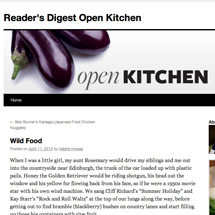 Reader's Digest Open Kitchen